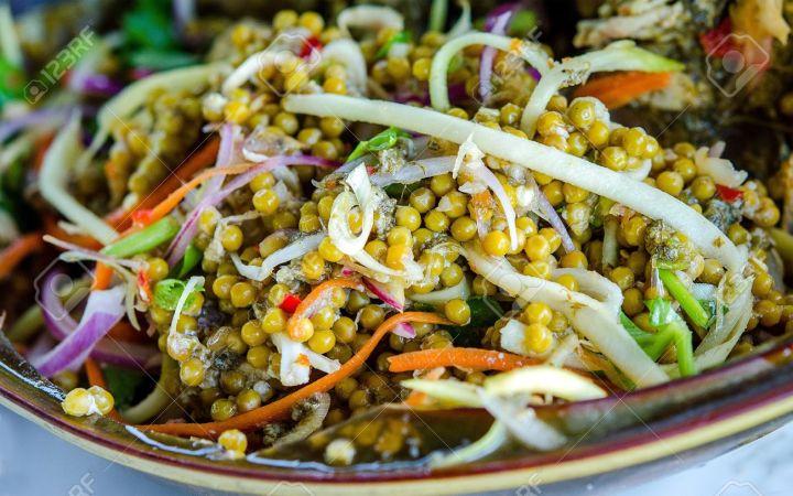 20329580-Horseshoe-crab-salad-Stock-Photo