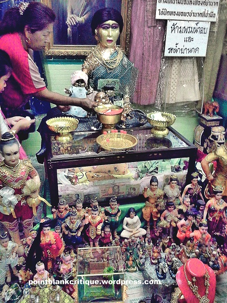 Donations and statuettes A Thai Ghostly legend