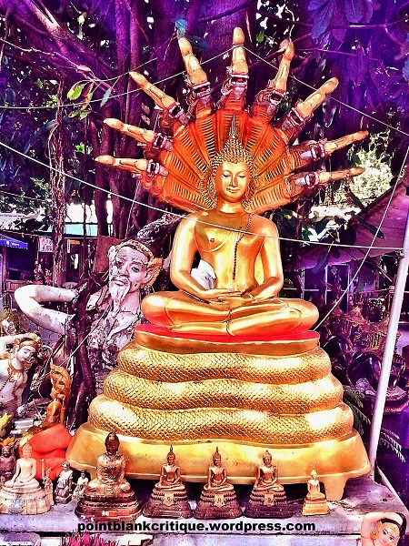 Thai Superstition A close up of one of the statues