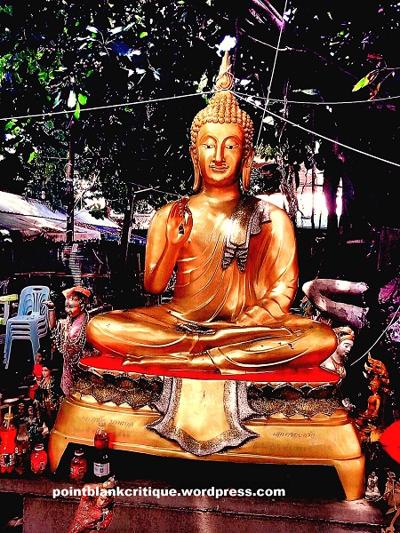 Thai Superstition A statue of Buddha at Wat Mahabut