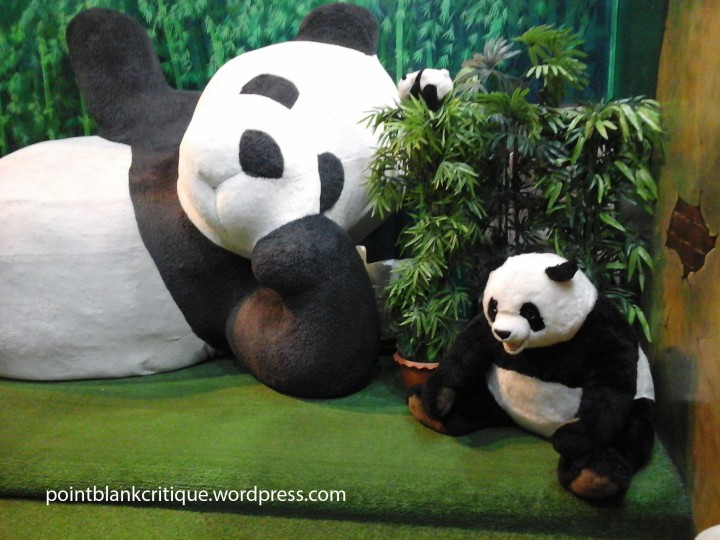 Panda bear big enough to sleep on
