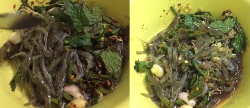 Bizarre Foods of Thailand – kung ten or dancing shrimp