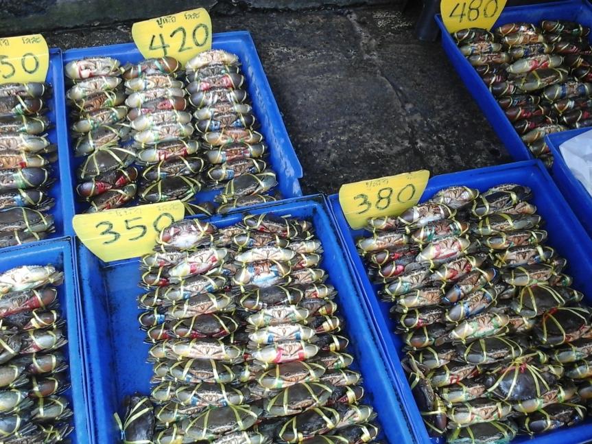 Thai Seafood Ang Sila market In Chonburi