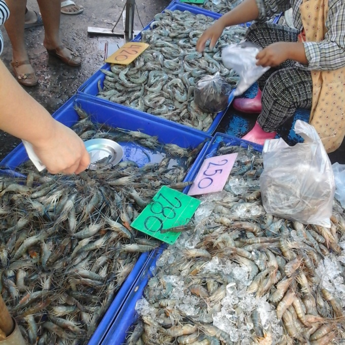 Thai Seafood Ang Sila market In Chonburi