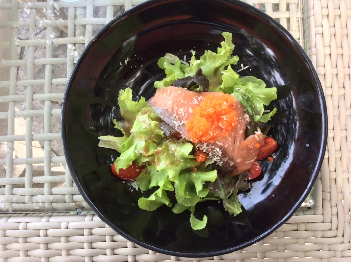 Smoked Salmon Salad @ The sky gallery Pattaya