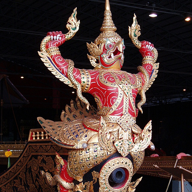 Amazing Thai craftmanship at the Royal Barge National Museum Bangkok