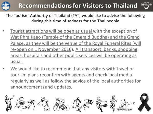 Latest updates Thailand Tourism