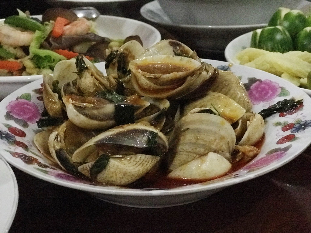As hard as the shell of a clam in Prasae